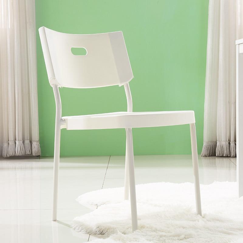 Plastic Chair Minimalist Modern Office Chair Casual Armchair Adult Northern European-Style Creative Hotel Dining Chair Restauran