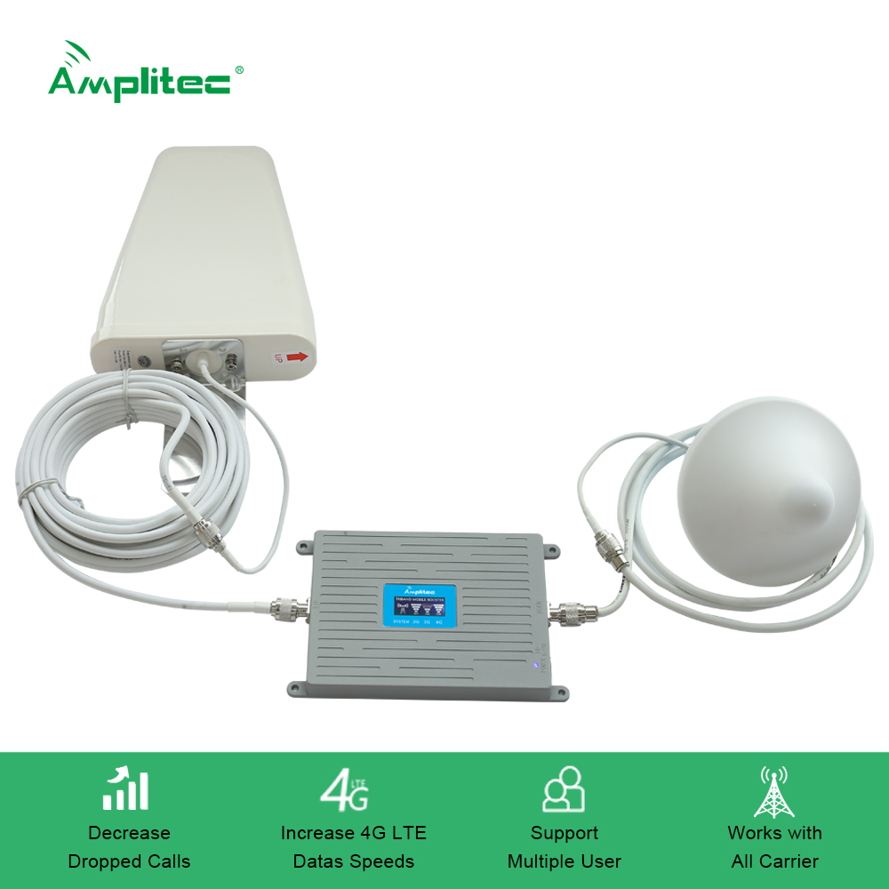 Repeater Cell-Phone-Booster Signal-Amplifier Cellular 2G 3G LTE 4G GSM Tri-Band DCS Mobile