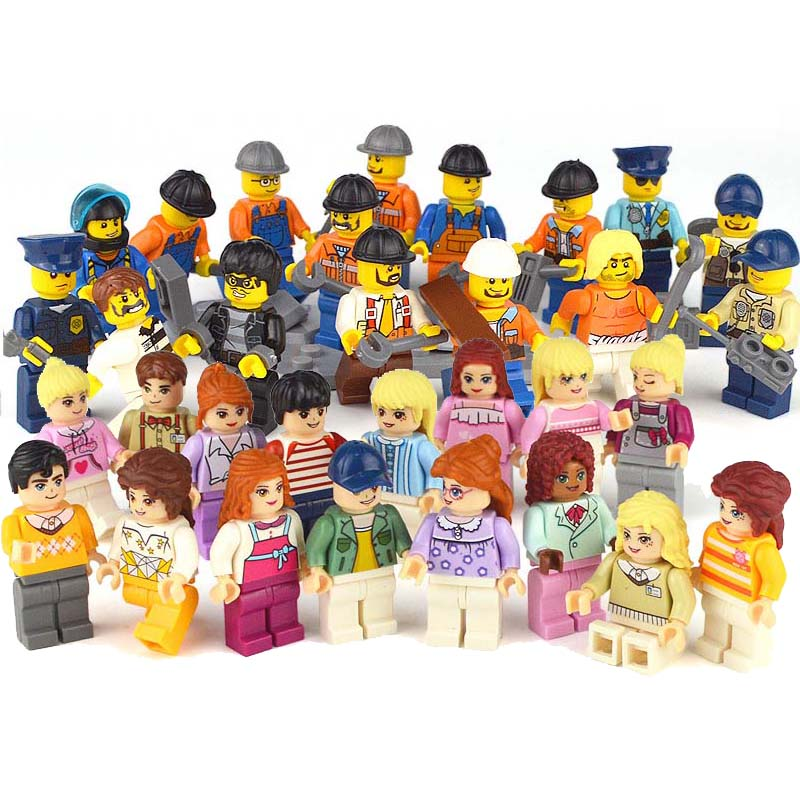 Enlighten Building Block Colorful City Life People in Town Doll Educational Bricks Figure Toy For Girl Gift