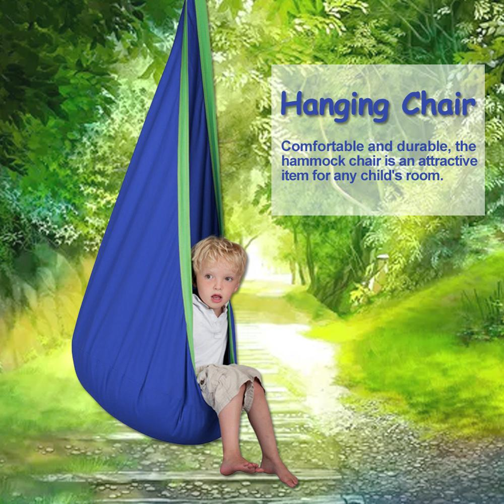 Home Child Hammock Chair Kids Parachute Cloth Swing Outdoor Indoor Hanging Hammock Seat