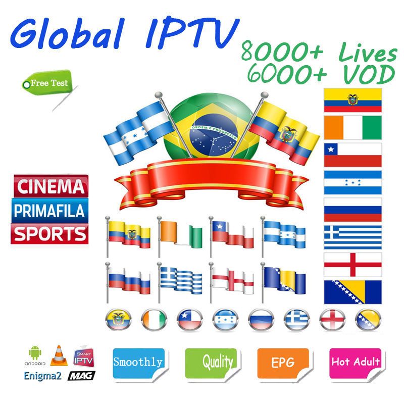 Europe IPTV Subscription 8000+ Channels Arabic Spain  USA India Canadian  African French India Ssmart Android M3U