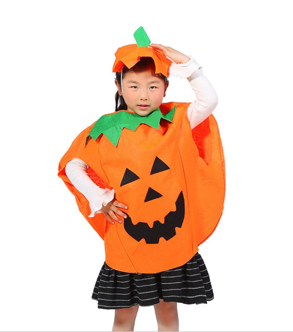 Halloween Children And Adult Cosplay Costume Pumpkin Clothes Parent-child Suits With Funny Hat