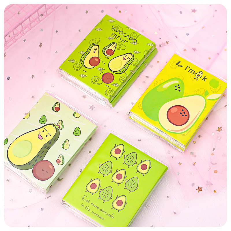 1set/lot Memo Pads Sticky Notes Avocado Series Paper Diary Scrapbooking Stickers Office School Stationery Notepad