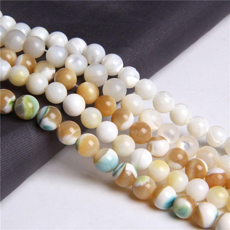 10MM Shell Beads Green 6-MM