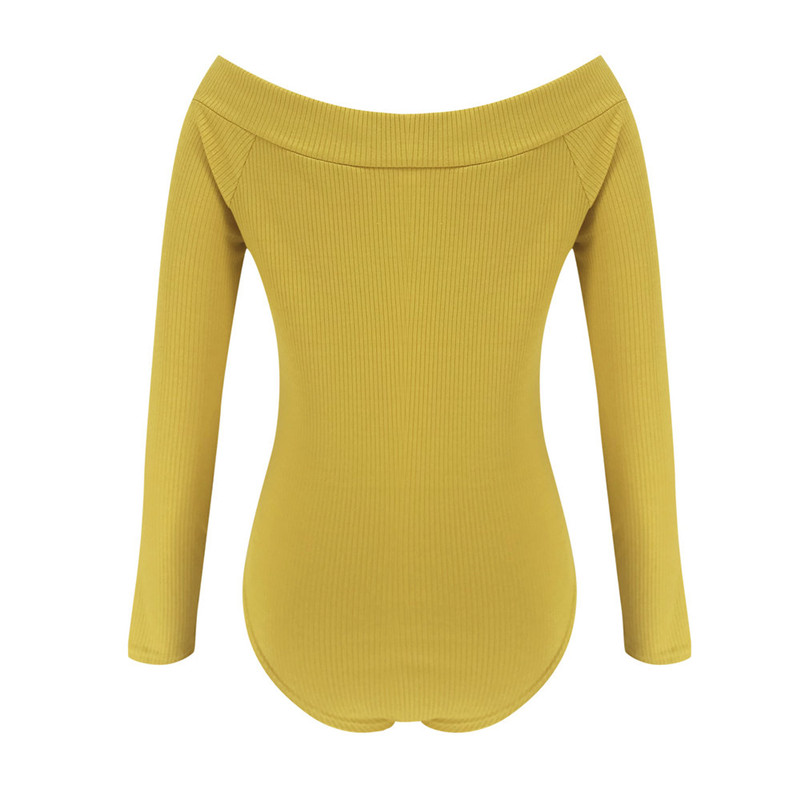 Sexy V Neck Slim Bodysuit Women Long Sleeve Skinny Club Wear Rompers T Shirt Tops Body Mujer Ladies Overalls Bodysuits Outfits in Bodysuits from Women 39 s Clothing