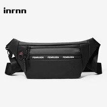 inrnn Waist Bag Men Outdoor Running Sports Belt Bags Fashion Male Sling Chest Bag Waterproof Waist Pack Mens Travel Fanny Pack