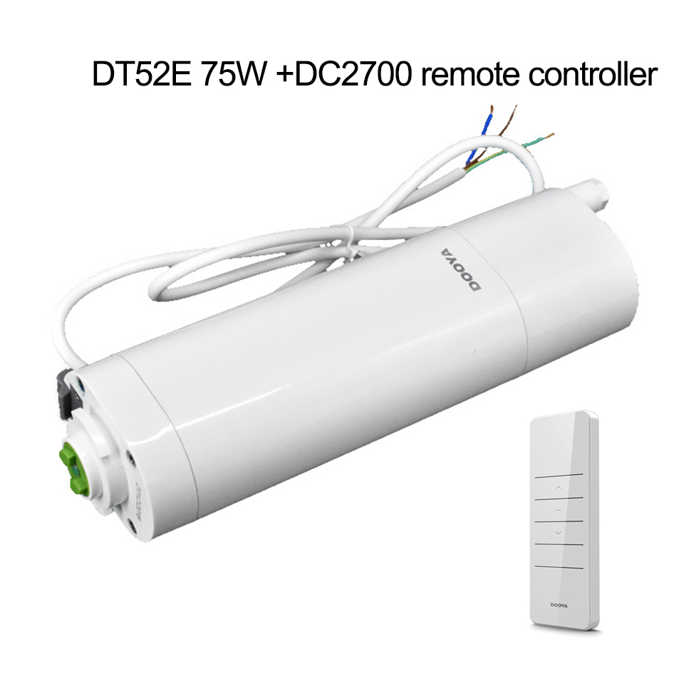 Original Dooya DT52E 75W Electric Curtain DC Motor+DC2700 Remote-Controller+6M Rails,Automatic Electric Curtain 220V Smart Home