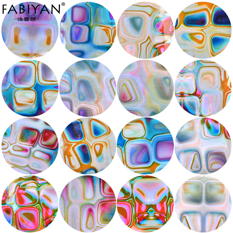 Fabiyan/Method Bi Yan Nail Sticker New Style Set Symphony Gradient Smudge Nail Sticker Flower Stickers Accessories