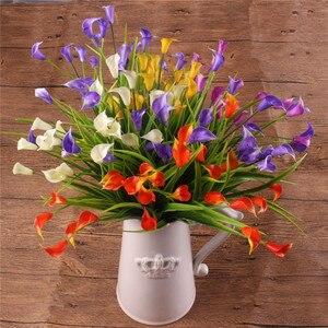 Image 2 - 23 Con/1 Lô Bó Hoa Mini Nhân Tạo Calla Với Lá Lụa Giả Lily Thực Vật Thủy Sinh Nhà Trang Trí Phòng Hoa hoa Giả