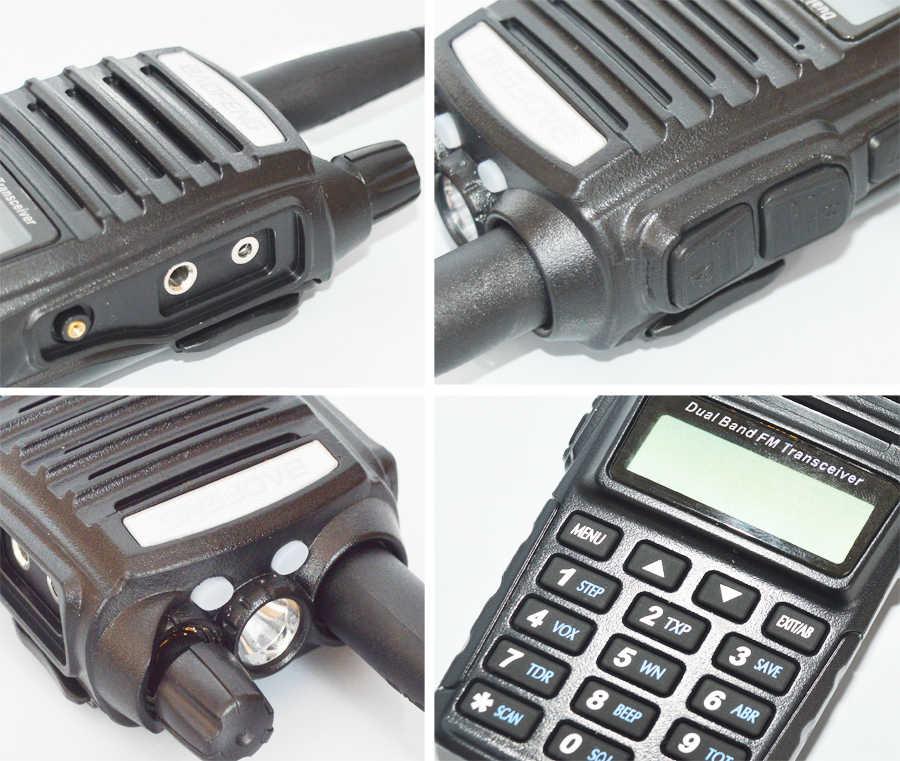 8W วิทยุแบบพกพาเครื่องส่งรับวิทยุ Baofeng UV-82 Dual ปุ่ม PTT วิทยุ VHF UHF Baofeng UV 82 UV82 Two WAY วิทยุ