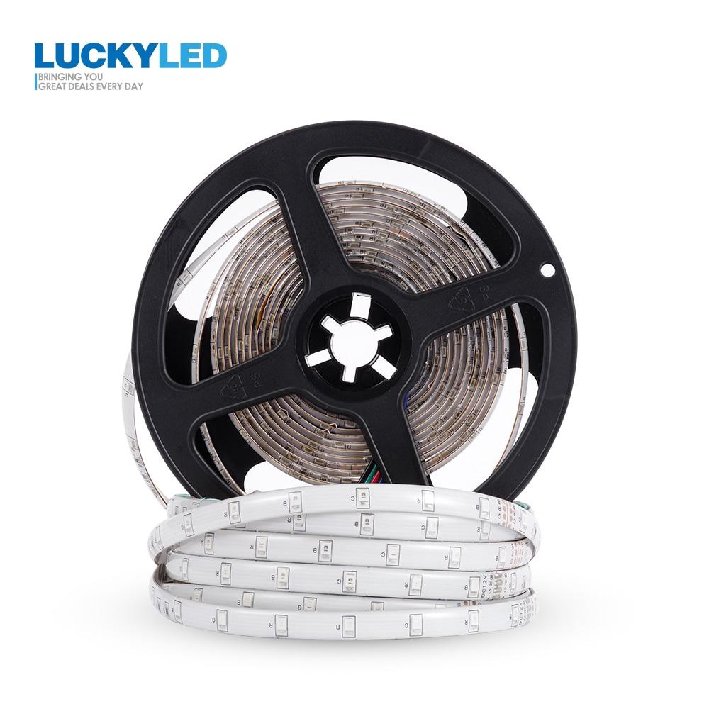LUCKYLED Led Strip Waterproof SMD 2835 DC 12V 300Leds 5M 60Leds/m Flexible RGB Led Tape Ribbon Led Light Strips Decoration Lamp