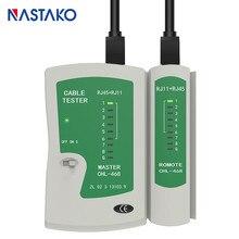 Naparto testador de cabo de rede rj45, testador de cabo de rede rj11 rj12 cat5 cat5e cat6 cat7 utp lan, ferramenta de trabalho em rede rj45
