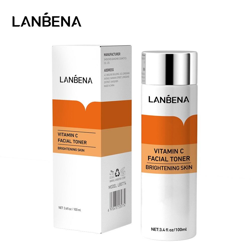 LANBENA Vitamin C Facial Toner Moisturizing Whitening Face Serum Tender Bright Fading Dark Spots Firming Skin Bioaqua VC Essence