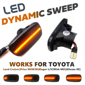 Image 1 - LED Side Marker Turn Signal Light Indicator Lamp For Prius NHW20 Kluger Wish Land Cruiser Altezza Lexus IS300 200 LS430 Scion xB