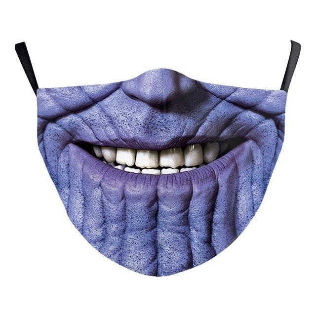 Superhero The Flash Thanos Iron Man Cosplay Face Mask Dustproof Adult Kids Masks 4