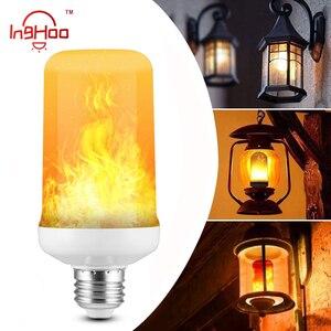 Inghoo LED flame effect fire light bulb flashing simulation decorative flame light E27 E26 E14 E12 B22 for Christmas Halloween
