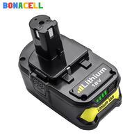 Bonacell 4.0Ah batería recargable de Li-Ion para RYOBI BPL-1815 BPL-1820G BPL18151 BPL1820 P102 P103 P104 P105 P106 P107 P108