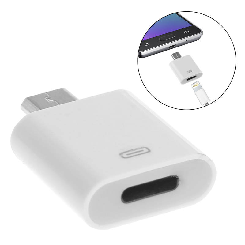 8-Pin Lightning Female To Micro USB Male Adapter Converter For LG Xiaomi Huawei