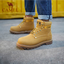 CAMEL Men High Top Waterproof Outdoor Shoes Durable Anti-Sli