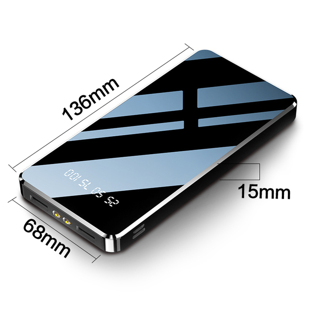 Power Bank 20000mAh Fast Charging Powerbank Slim Poverbank Portable External Battery Charger For Xiaomi Mi 9 8 iPhone 11 Pro Max 5