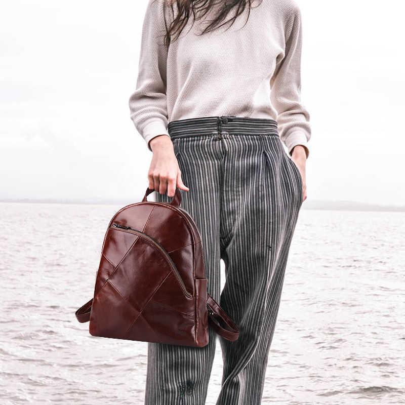 Ayakkabıcı Legend sırt çantası kadın 2019 dizüstü sırt çantası Vintage klasik hakiki deri kadın sırt çantası bayan çantası Mochila Feminina