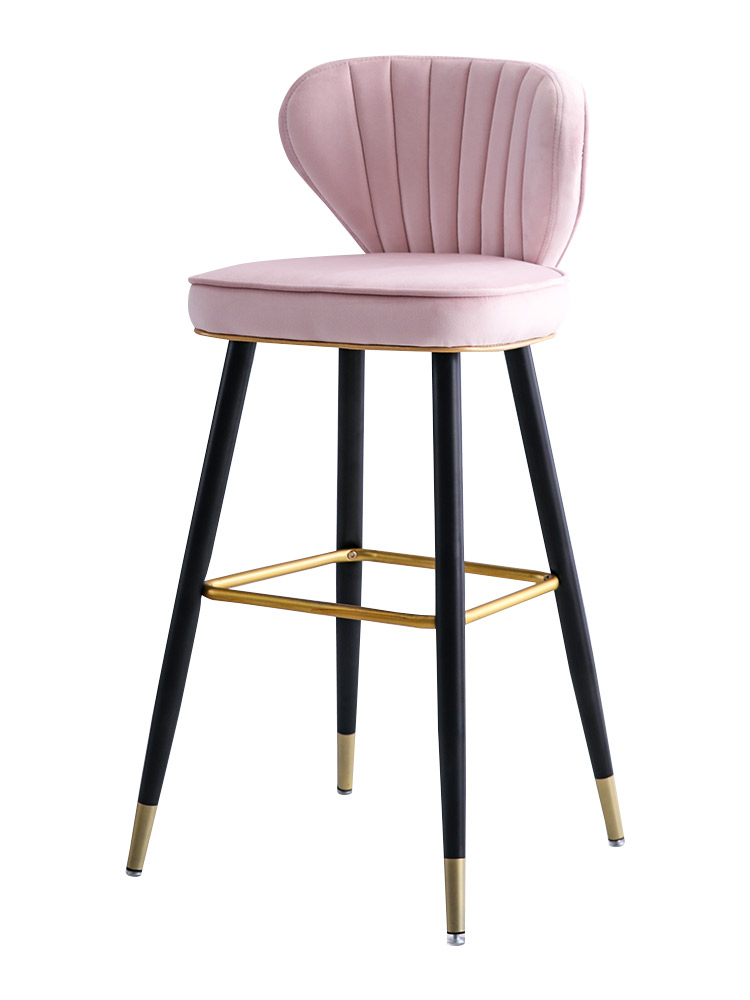 Nordic Light Luxury Solid Wood Bar Chair Swivel American High Chair Stylish Bar Chair Simple Back High Stool