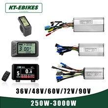 Kt ebike controlador do motor lcd display led kunteng 36v 48 lcd3 lcd8h 880 lcd7 bicicleta elétrica controlador de exibição