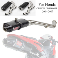 For Honda CBR1000 2004 2005 2006 2007 Motorcycle Full Exhaust System Silp On For CBR1000RR Exhaust Muffler Mid Tail Pipe Escape