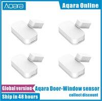 Aqara-Sensor inteligente de bolsillo Zigbee, minidetector con conexión inalámbrica para puertas y ventanas, funciona con la aplicación Mi Home para Android e iOS, versión global
