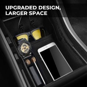 Image 5 - מכונית אחסון המרכזי עבור טסלה דגם 3 2017   2020 עבור דגם Y פנים אביזרי Stowing לסדר מרכז קונסולה ארגונית