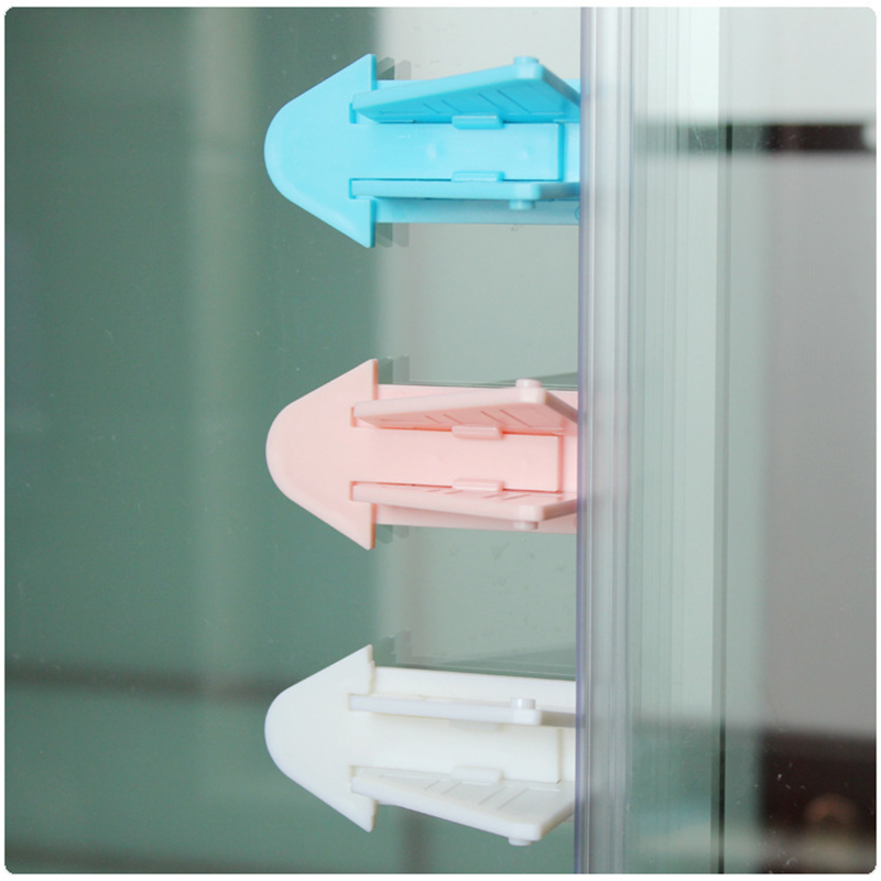 Baby Safety Lock For Sliding Door Window Children Protection Lock Anti-pinch Wings Kids Safety Lock For Push-pull Door