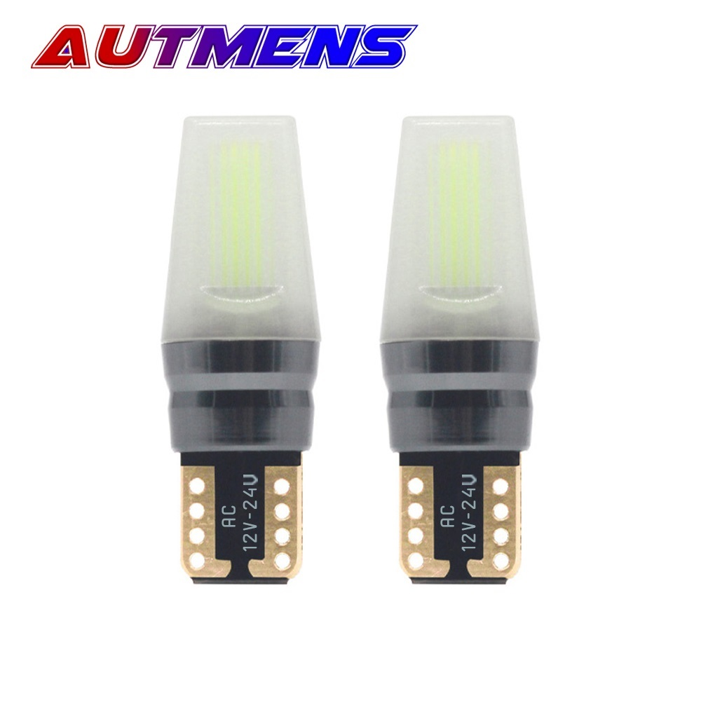 <font><b>100PCS</b></font> W5W <font><b>T10</b></font> 1W 2W 12V 24V LED 194 168 SUPER Bright Led Parking Bulb Auto Wedge Clearance Lamp <font><b>CANBUS</b></font> License Light Bulbs image