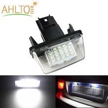 Lámpara de luz LED para placa de matrícula de 12V para coche, luces estroboscópicas para matrícula de coche, para Peugeot 206, 207, 306, 307, 406, 407, C3, C4, C5