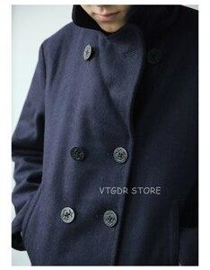 "Image 5 - בוב דונג ארה""ב חיל הים 740 אפונה מעיל 1940s USN כבד צמר חשיש מעיל Slim Fit"