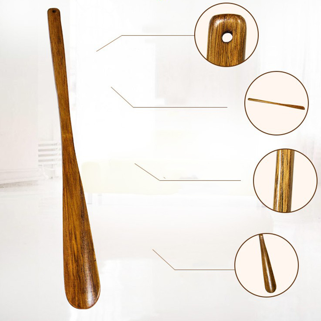 Wood Shoe Horn Long-handled - 55cm/21.7inch - Classic Shoehorn For Women, Men, Kids, Seniors, Elderly, Disabled