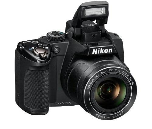Appareil photo numérique Nikon COOLPIX P500 12.1 CMOS d'occasion avec objectif Zoom optique grand Angle NIKKOR 36x et vidéo Full HD 1080p (noir)