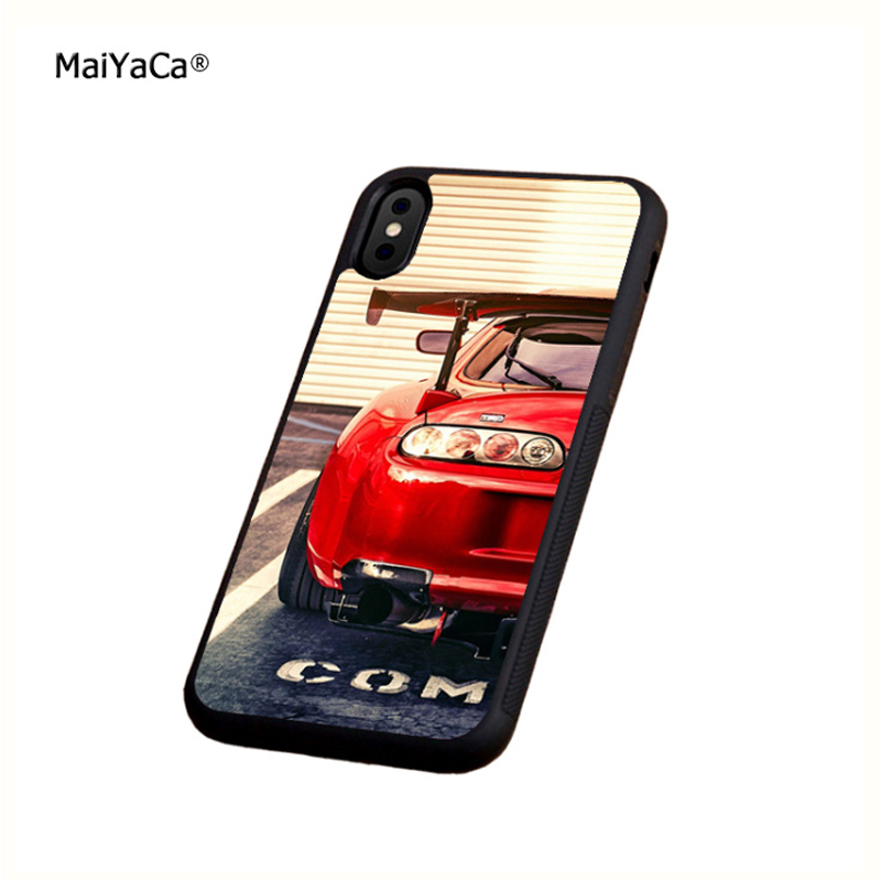 red car tuned supra soft silicone edge mobile phone cases for apple iPhone x 5s SE 6 6s plus 7 7plus 8 8plus XR XS MAX case