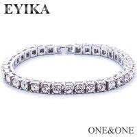 Hip Hop luxury Rhinestone Tennis chain Bracelet 7 inch/8 inch trend Fashion hiphop jewelry for Men Women Charm Punk Jewelry