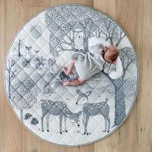 Коврик для детской кроватки круглый ковер детская палатка игровой