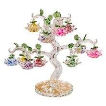 Хрустальные украшения в виде дерева лотоса Fengshui миниатюрная фигурка украшения для дома подарки