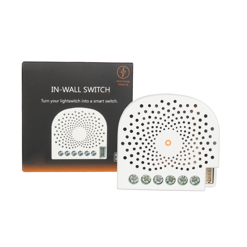 Z Wave Plus Smart Switch In Wall Remotely Control On/Off Controller With Energy Metering Compatiable With Fibaro Smartthings