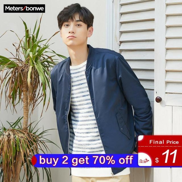 Metersbonwe Mens Casual Jackets for Men Jogger Fashion Jacket Men Overcoat Baseball Jackets Mens Streetwear Tops Plus Size