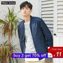 Metersbonwe männer Casual Jacken für Männer Jogger Mode Jacke Männer Mantel Baseball Jacken männer Streetwear Tops Plus Größe
