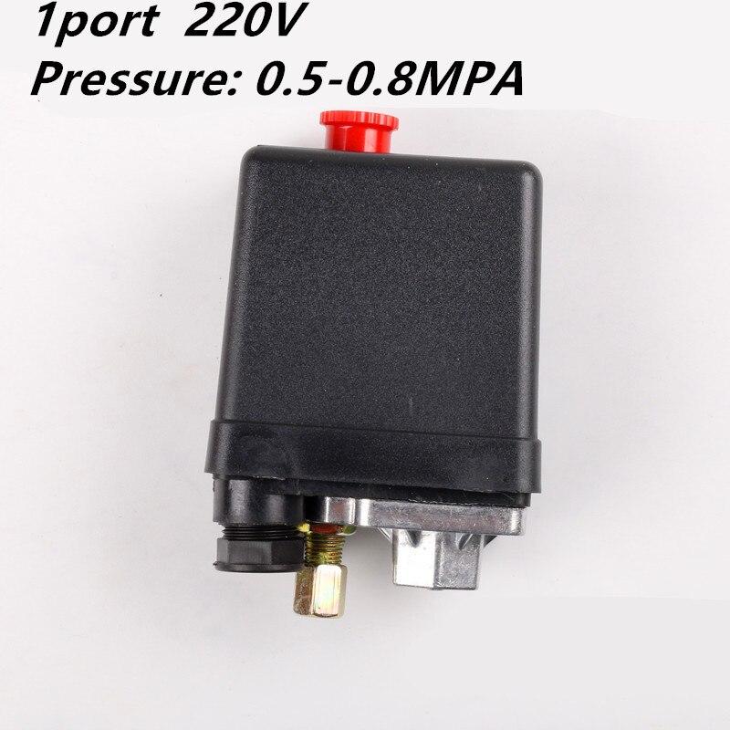 Válvula de Control de Interruptor de Presión Del Compresor de Aire de 1 fase, 220-240V, 5-8kg, 15A, 175PSI, 12bar, 3 fases, 380V, 20A