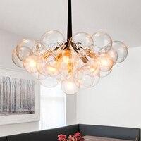 Moderne Anhänger lampen Kreative LED Blase lucency Glas ball Kronleuchter Beleuchtung Wohnzimmer Schlafzimmer Home Leuchten-in Pendelleuchten aus Licht & Beleuchtung bei