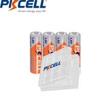 4 шт. PKCELL 2500mWh 1,6 V Ni Zn AA аккумуляторные батареи 2A батареи прочный AA NI ZN аккумулятор с 1 шт. aa батарейный чехол