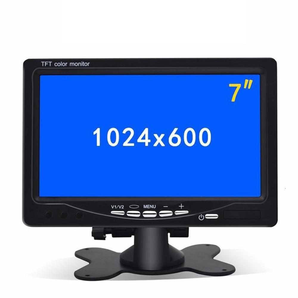 7 Pollici Auto Poggiatesta Monitor di Visualizzazione Vista Posteriore E Wifi Retrovisore Inverso Della Macchina Fotografica di Backup Auto Display Tv