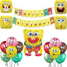 1 conjunto dos desenhos animados smiley rosto balão látex grandes olhos amarelos balões de ar mundo subaquático feliz aniversário festa decoração banner brinquedos