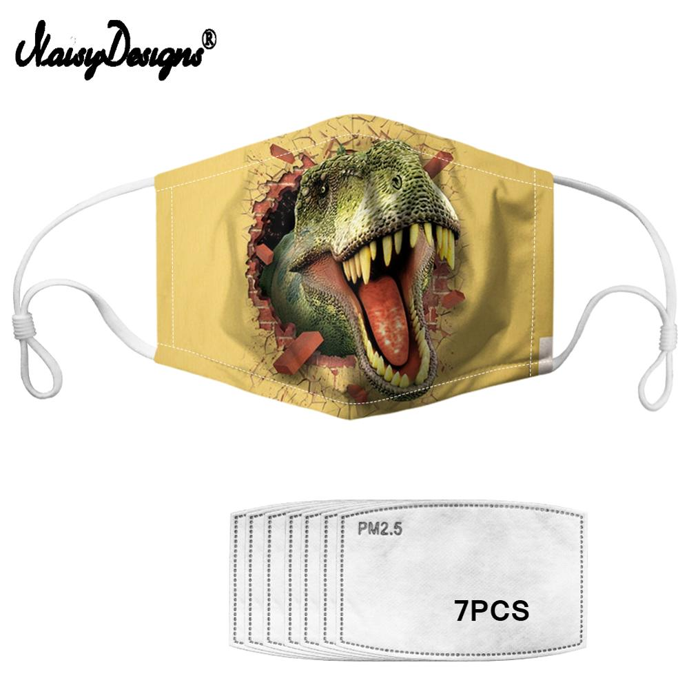 Cute Dinosaur Cartoon Print Child Mouth Masks Anti Dust Kids Mouth Face Masks Children Breathable Mouth-muffle Drop Shopping