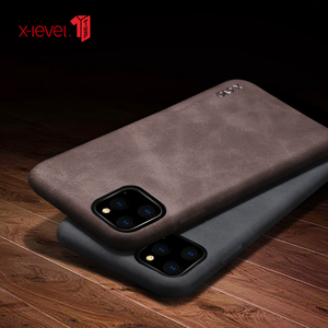 Image 5 - For iPhone 11 Pro Max 2019 Case, X Level Luxury Vintage Leather Cover Case for iPhone 11 Pro 5.8 / 6.1 Back Case Brown